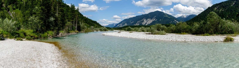 Isar Flussbett im Karwendel