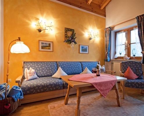 Ferienwohnung Alpenwelt Karwendel-Wohnzimmer