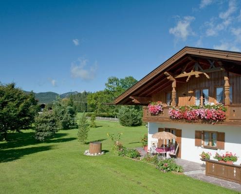 Ferienwohnung Alpenwelt im Sommer