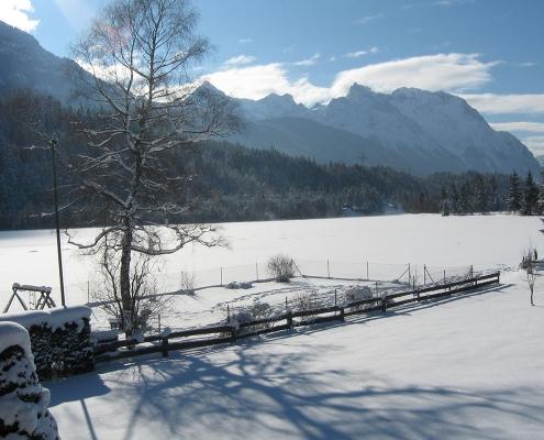 Ferienwohnung Alpenblick - Panoramablick im Winter