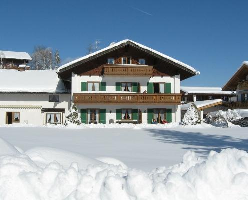 Ferienwohnung Alpenblick im Winter