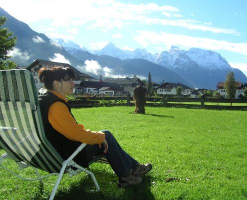 Ferienwohnung-Pension Berghof Garten