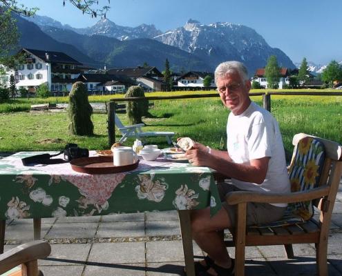 Ferienwohnung-Pension Berghof Terrasse