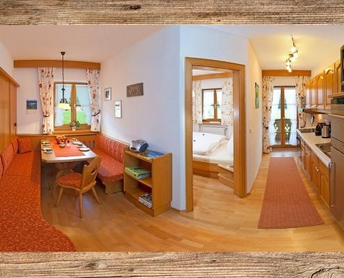 Ferienwohnung Zum Baur - FeWo 3 - Viererspitz - Wohnküche