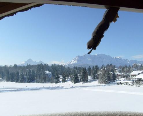 Ferienwohnung Zum Baur - FEWO Karwendel Panoramablick im Winter