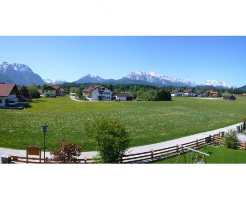 Gästehaus -Bayern - Ferienwohnung Panoramablick ins Karwendel