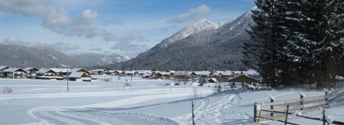 Langlaufloipen bei Krün und Wallgau