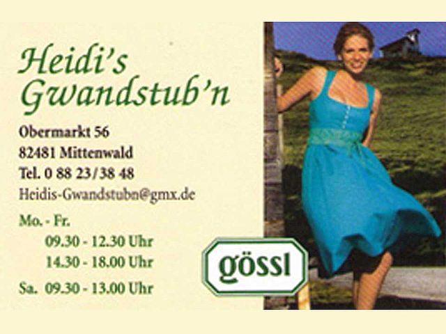 Heidis Gwandstubn in Mittenwald