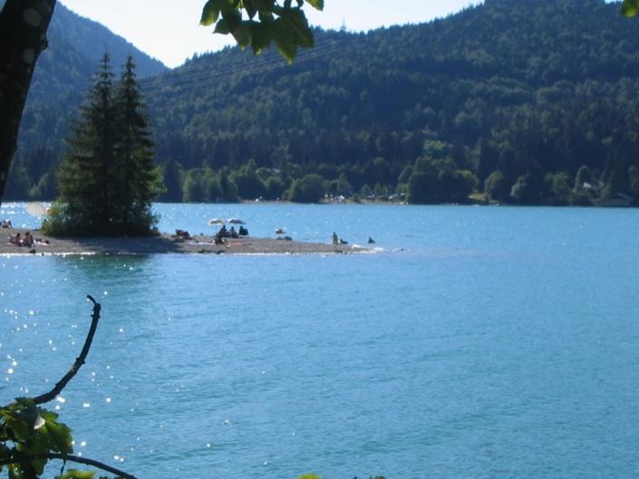 Der Walchensee im Karwendelgebirge