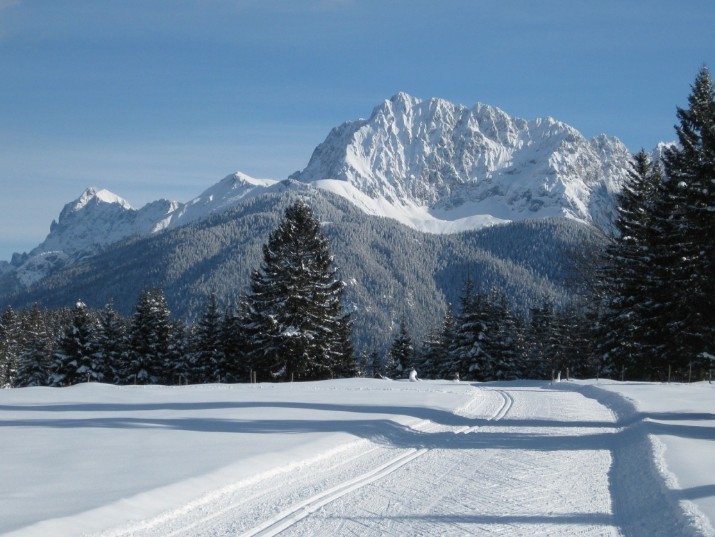 Langlaufloipen im Karwendel