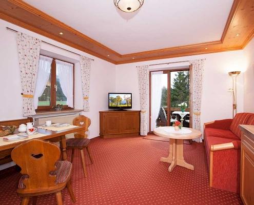Ferienwohnung Alpenblick Soiernsee Wohnraum