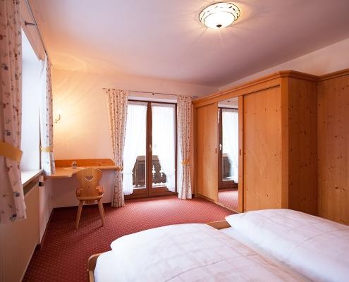 Ferienwohnung Alpenblick Soiernsee Schlafzimmer