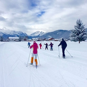 Winter im Karwendel - gespurte Loipen