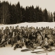 Nostalskiathleten in der Alpenwelt Krün