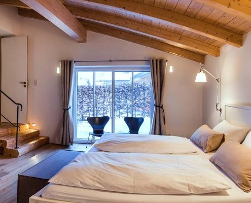 Ferienhaus Alpenblicke Schlafzimmer Erdgeschoss