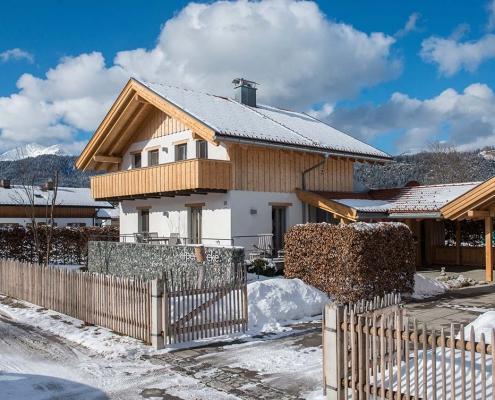 Ferienhaus Alpenblicke im Winter