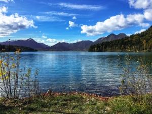 Ausflugsziel Walchensee von Krün und Wallgau in der Alpenwelt Karwendel