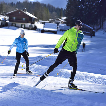 Skating Langlaufen in Krün und Wallgau