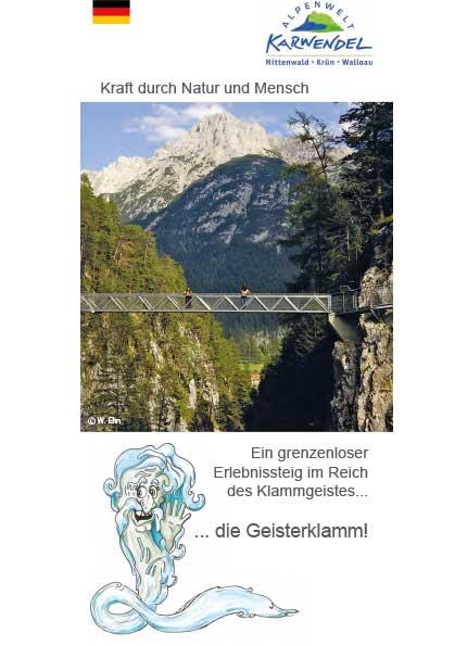 Leutascher Geisterklamm Broschüre für den Besuch