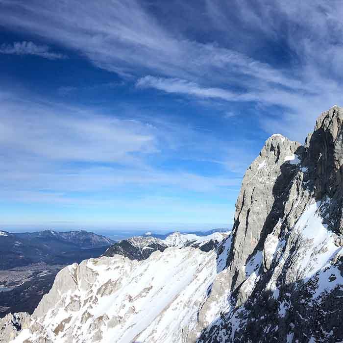 Blick von westlicher Karwendelspitze zum Herzogstand